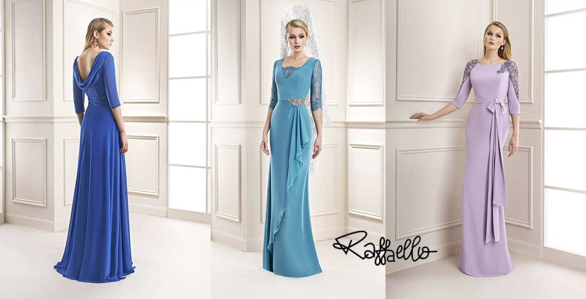preciosa colección de vestidos de madrina de la firma Raffaello
