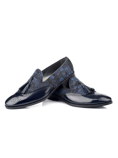 Zapato de novio tipo mocasín con borlas Enzo Romano