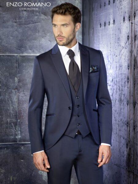 clásico traje de novio modelo 93-2570 enzo romano