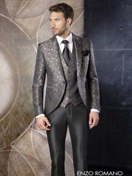 traje de novio exclusivo semilevita modelo 6215 enzo romano