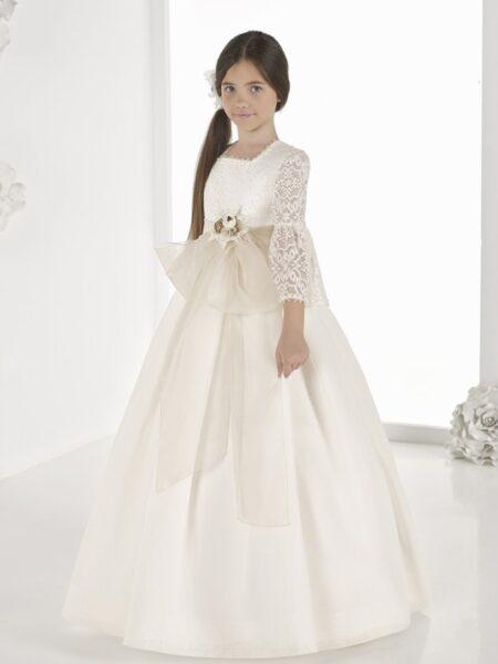 vestido comunión fantasía en esterilla modelo 9804 outlet carmy