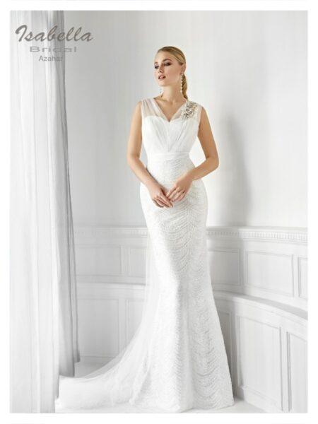 vestido de novia modelo azahar de la firma isabella bridal