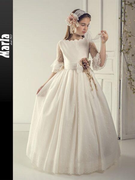 vestido comunión fantasía en outlet modelo J172 de Marla disponible en Moda Pureza