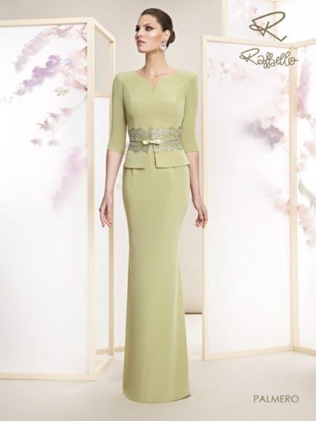 Vestido largo de madrina modelo palmero de Raffaello colección 2021