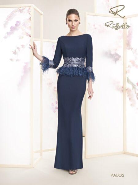 Vestido madre de novia modelo palos de Raffaello colección 2021