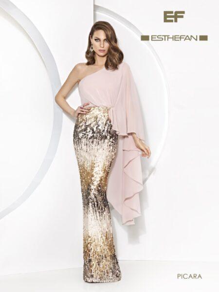 vestido fiesta largo modelo picara de Esthefan