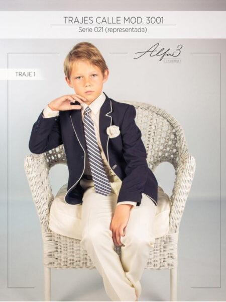 Traje chaqueta comunión niño modelo 3001 Alfa3