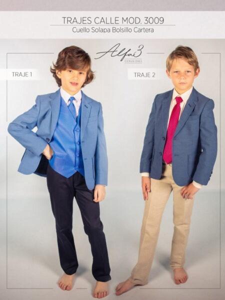 Traje chaqueta niño comunión o invitado ceremonia modelo 3009 Alfa3