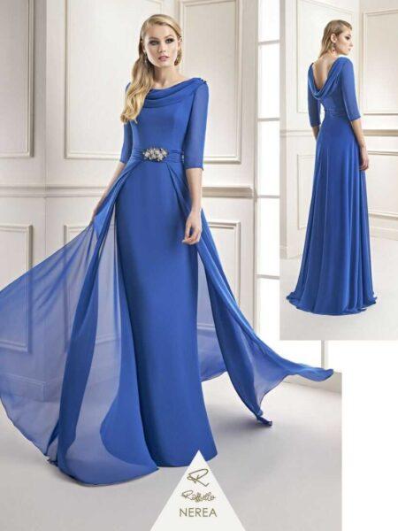 vestido ideal para madre de novia en tejido gasa modelo nerea de Raffaello