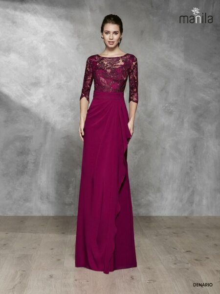 vestido de madrina modelo denario de manila novias disponible en Pureza Jódar