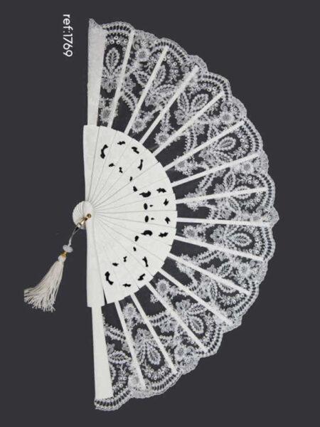abanico de novia en tul bordado