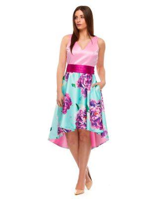 ‼️NOVEDADES VESTIDOS DE FIESTA INVITADA‼️ 👗Vestido corto de fiesta en escote tirantes, fajín de raso ancho y falda floral con cola, vestido muy ideal para bodas de mañana o invitada de comunion. #modapureza #yomevistoenpureza #fiesta #moda #vistetedepureza #vestidosdefiesta #boda #bodas #invitadaperfecta #shopping #juvenil #fashion #model #style #fashionstyle #españa #andalucia #jaen #jodar